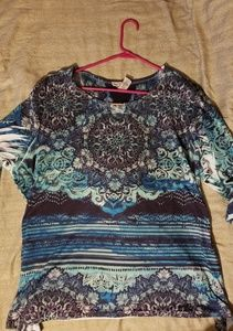 ☆ Beautfiul polyester 3/4 sleeve womans top ☆